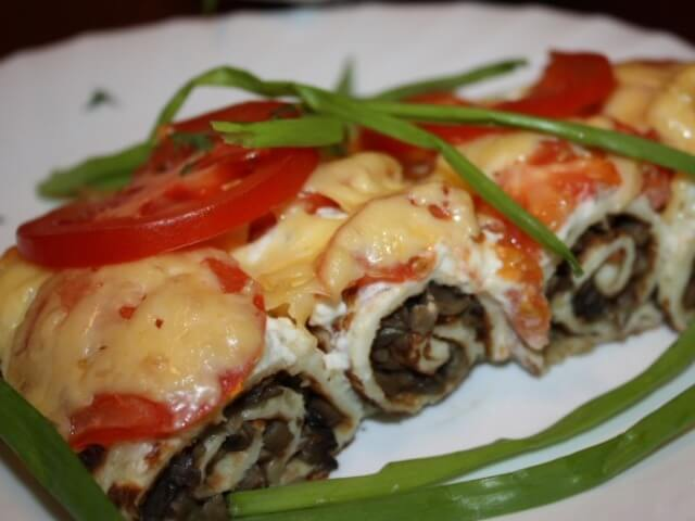 Mushroom Appetizer with Cottage Cheese Photo 1