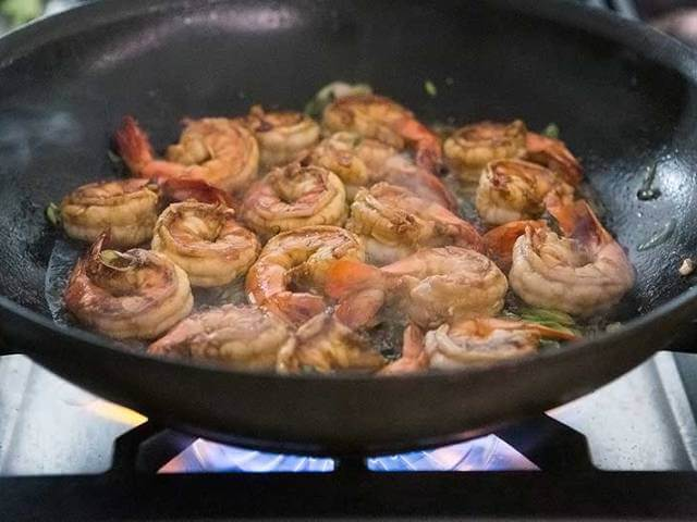 Shrimps with Garlic, Ginger and Sesame Photo 5