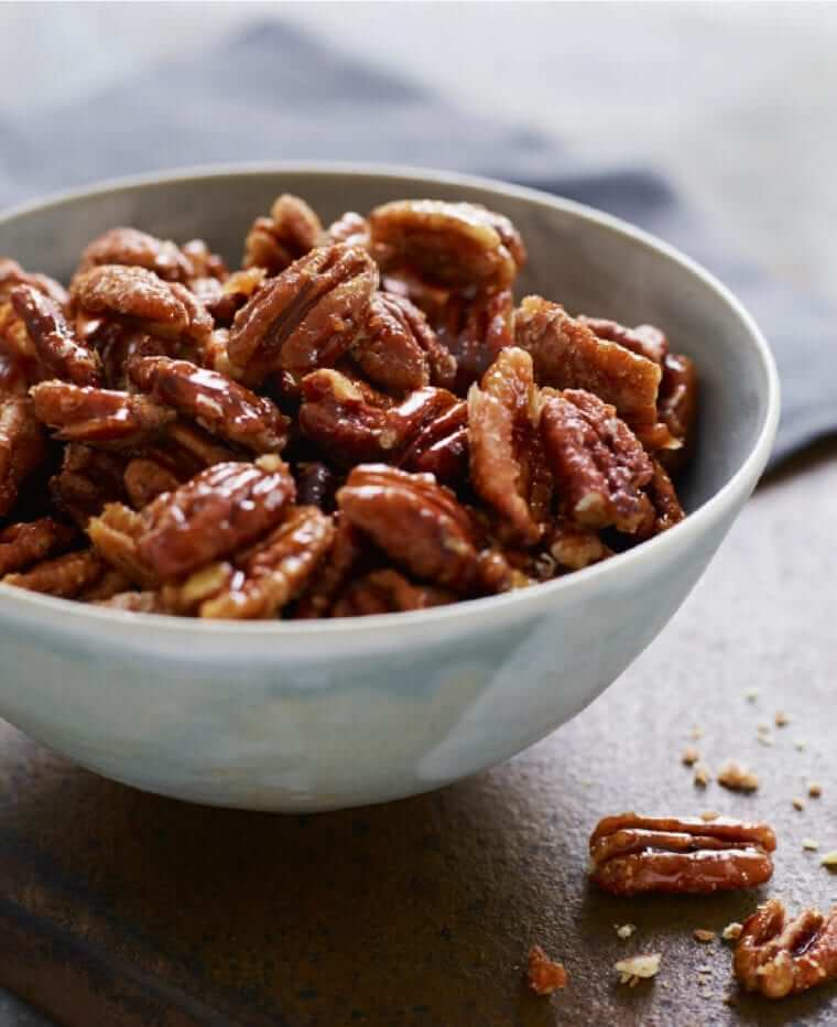 Sweet, Spicy, Salty Candied Pecans Photo 1