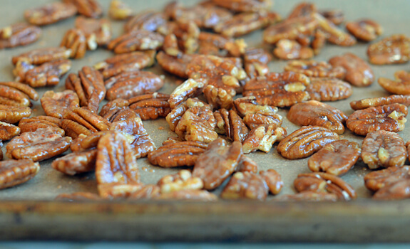 Sweet, Spicy, Salty Candied Pecans Photo 5