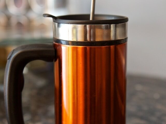 Cold Brew Coffee in a French Press Photo 6