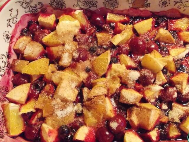 Tea with Baked Berries and Fruit Photo 6