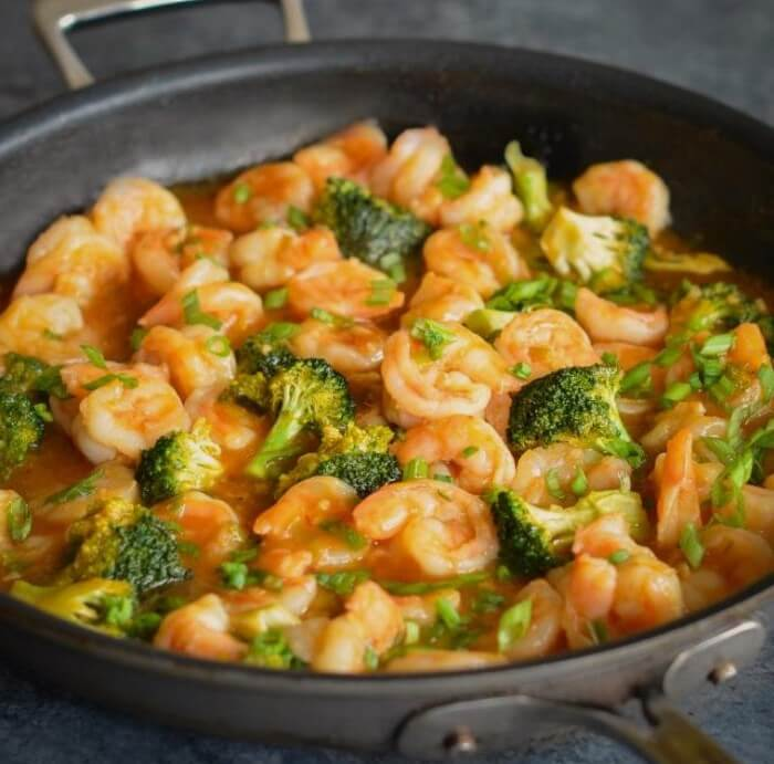 Sweet & Sour Shrimp With Broccoli Photo 1