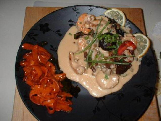 Lobster, Shrimps and Mushrooms in Rosemary Veloute Photo 1
