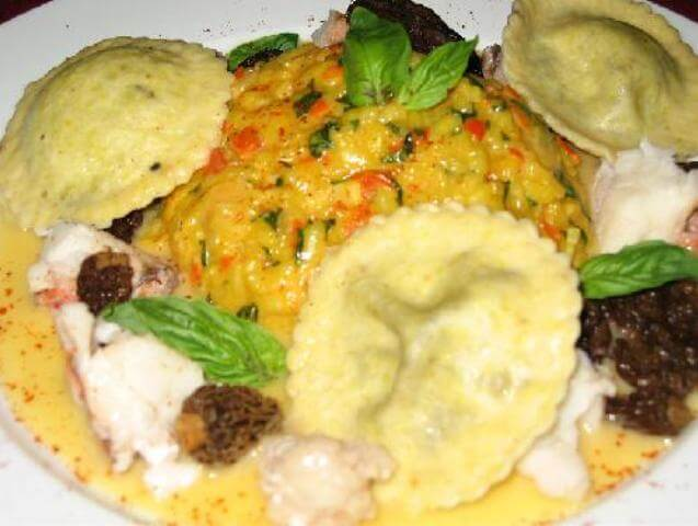 Saffron Risotto and Lobster with Lemon-Caviar Ravioli Photo 14