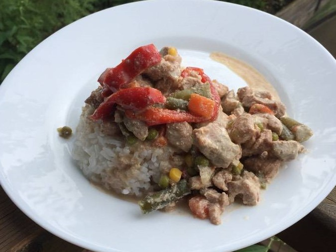Turkey Recipe with Vegetables in a Creamy Sauce Photo 1
