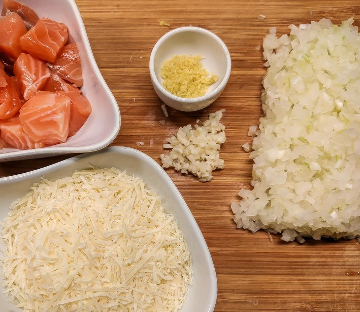 Simple Risotto with Salmon Photo 3
