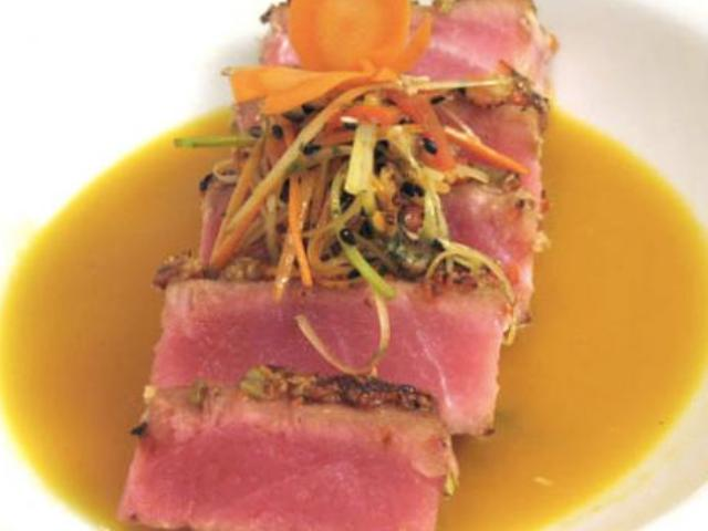 Carrot and Wasabi Crusted Yellowfin Tuna Photo 9