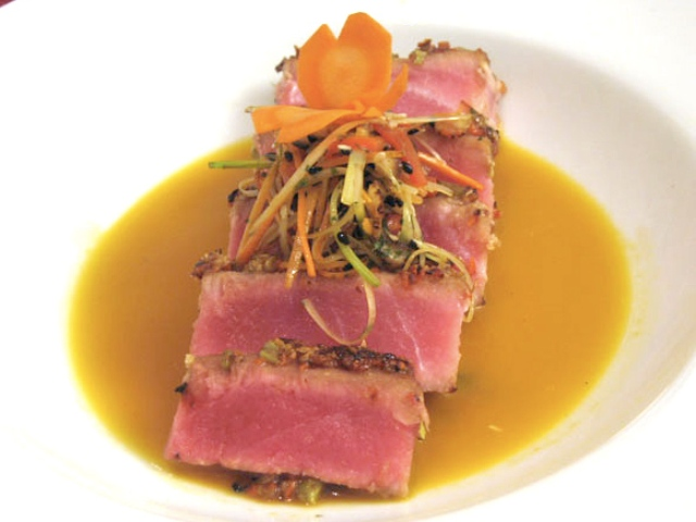 Carrot and Wasabi Crusted Yellowfin Tuna Photo 1