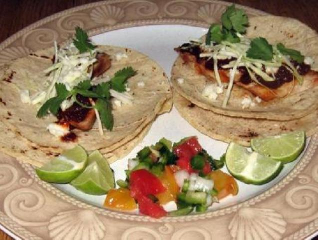 Grilled Turkey Tacos with the Mole Sauce Photo 1