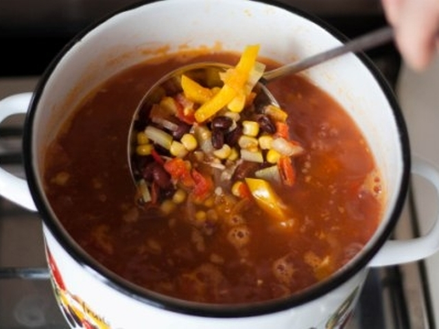 Mexican Style Vegan Soup Photo 10