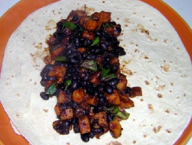 Pumpkin & Black Bean Burritos Photo 5