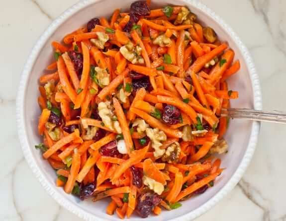 Carrot Salad with Cranberries, Toasted Walnuts & Citrus Vinaigrette Photo 1