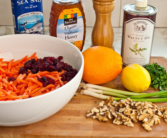 Carrot Salad with Cranberries, Toasted Walnuts & Citrus Vinaigrette Photo 2