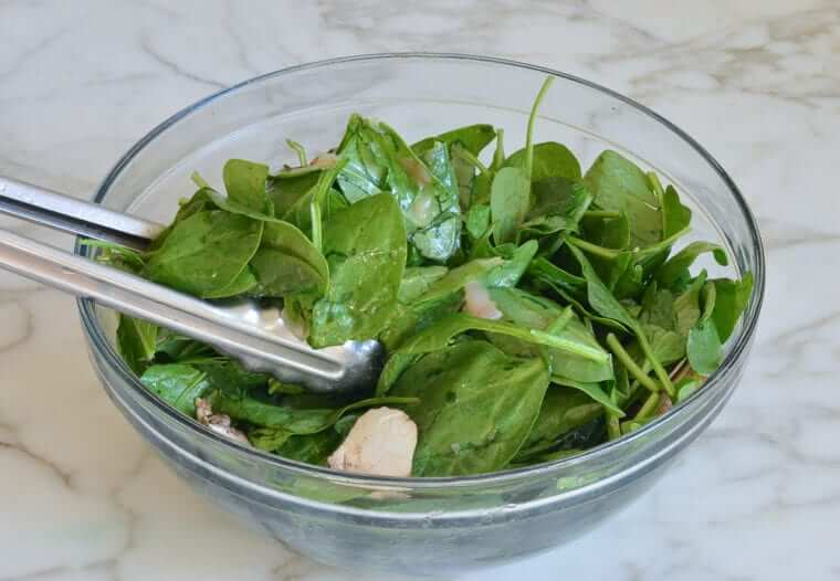 Spinach Salad with Warm Bacon Dressing Photo 9