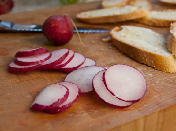 Sliced Baguette with Butter, Radishes & Sea Salt Photo 3