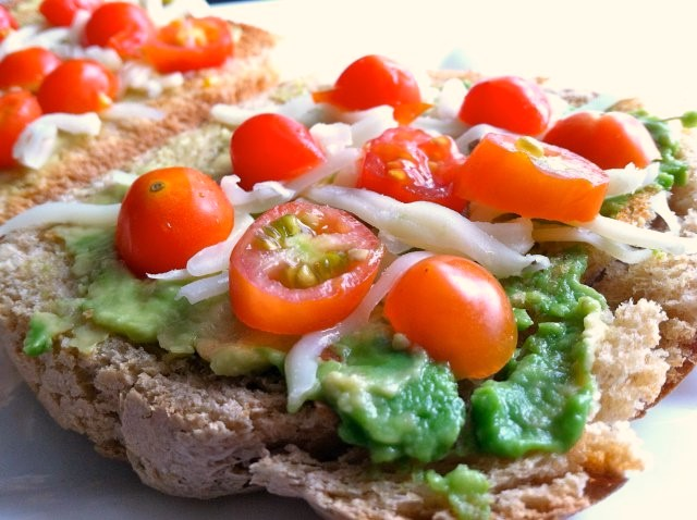 Healthy Sandwich with Avocado and Mozzarella