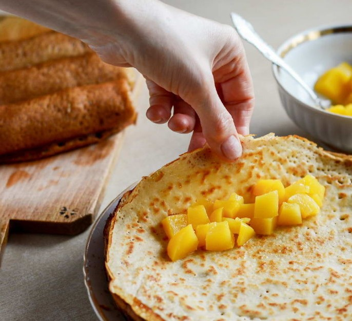 Healthy Corn and Rice Pancakes with Peaches Photo 8