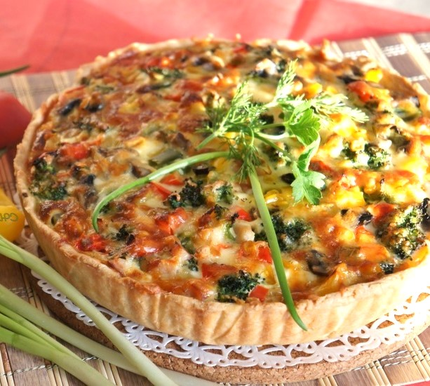 Healthy  Vegetarian Quiche Recipe Photo 1