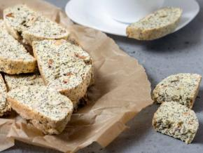 Biscotti with Poppy and Hazelnuts