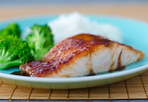 Salmon with Soy Mustard Glaze