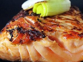 Soy-Ginger Salmon with Roasted Leeks